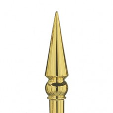 "Annin® Round Spear Ornament - Alum. alloy, 8"" long"