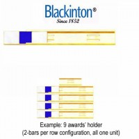 "Blackinton® 3/8""Size Cab-Slide Commendations Holder (2-per row)"
