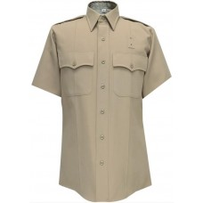 Flying Cross® 55/45 Polyester/Wool CHP Short Sleeve Shirt (Plain Pockets)