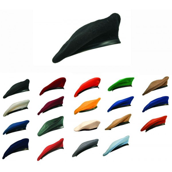a1ef74c2 TSR® Military Beret (with Leather Sweatband - Lined) ...