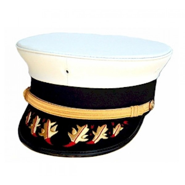 Bayly 174 Bell Crown Officer Cap With Opt Flame Visor