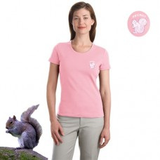 Secret Squirrel™ - Ladies Modern Stretch Cotton Scoop Neck Shirt